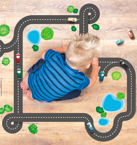 Wall Play Autobahn Road Wall Decals - Wall Sticker Outlet