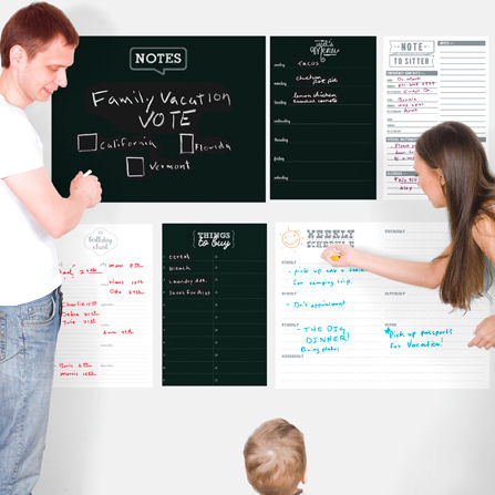 Family Command Center Challkboard Dry Erase Decals - Wall Sticker Outlet