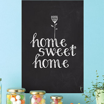 Midsize Black Dry Erase Wall Decal  - Wall Sticker Outlet