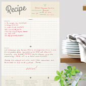 Recipe Card Dry Erase Wall Decal
