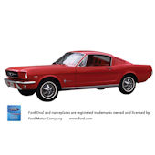 1965 Ford Mustang Fastback Peel Stick Wall Mural