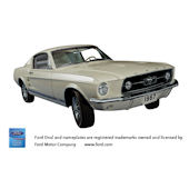 1967 Ford Mustang GT Fastback Sticker Wall Mural