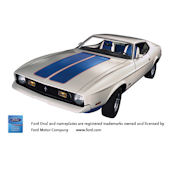 1972 Ford Mustang Sprint Peel Stick Wall Mural