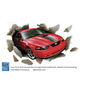 2003 Ford Mustang Mach 1 Through Wall Wall Mural