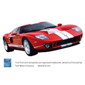 2005 Ford GT Peel and Stick Wall Mural