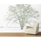 Calypso Tree Bright Pre Pasted Wall Mural