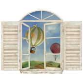Balloon Window Peel and Stick Wall Mural