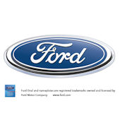 Ford Blue Oval Logo Peel and Stick Wall Mural