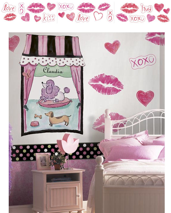 Hugs and Kisses Jumbo Cutouts - Wall Sticker Outlet