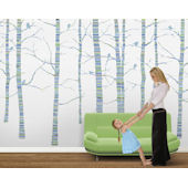 Calpso Forest Blue Green Pre Pasted Wall Mural