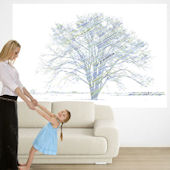 Calypso Tree Blue Green Pre Pasted Wall Mural