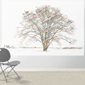 Calypso Tree Primary Pre Pasted Wall Mural