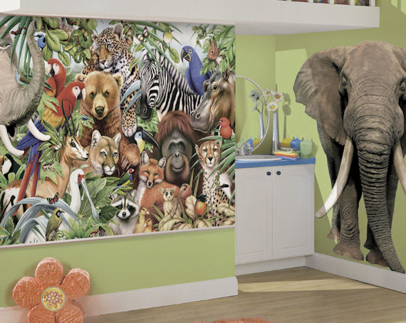Jungle Animals Bliss Wall Mural