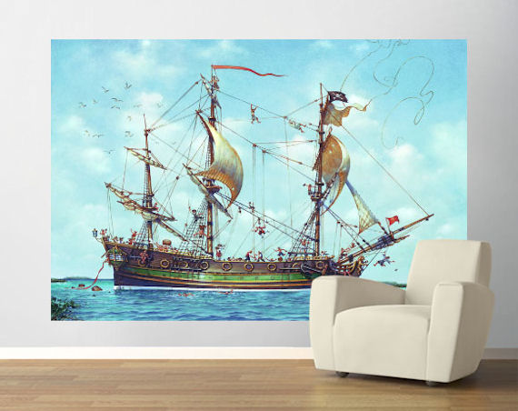 A Sheet to The Wind Easy Up Wall Mural - Wall Sticker Outlet
