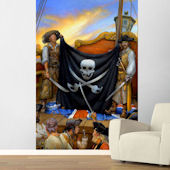 Jolly Roger Easy Up Wall Mural