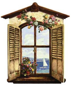 Ocean View Window Peel and Stick Wall Mural - Wall Sticker Outlet