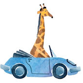 Safari Friends Giraffe Peel and Stick Wall Mural