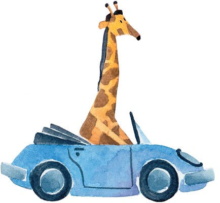 Safari Friends Giraffe Peel and Stick Wall Mural - Wall Sticker Outlet
