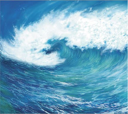 Wave Pre Pasted Wall Mural