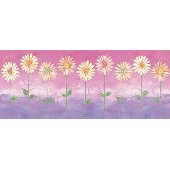 Pink Big Daisies Medium Pre Pasted Wall Mural