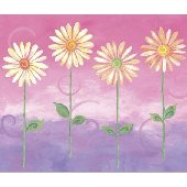 Pink Big Daisies Large Pre Pasted Wall Mural