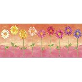 Orange Big Daisies Medium Pre Pasted Wall Mural