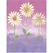 Pink Big Daisies Small Pre Pasted Wall Mural