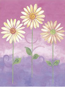 Pink Big Daisies Small Pre Pasted Wall Mural - Kids Wall Decor Store