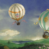 Hot Air Balloon Bliss Mural