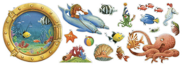 Fish Circus Cutouts - Wall Sticker Outlet