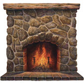Fireplace Peel and Stick Wall Mural