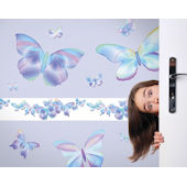 Fluttering Butterfly Blue Freestyle Appliques