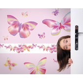 Fluttering Butterfly Pink Freestyle Appliques
