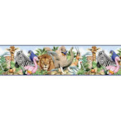 Jungle Animals Freestyle Pre Pasted Border