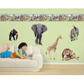 Jungle Animals Freestyle Peel and Stick Appliques