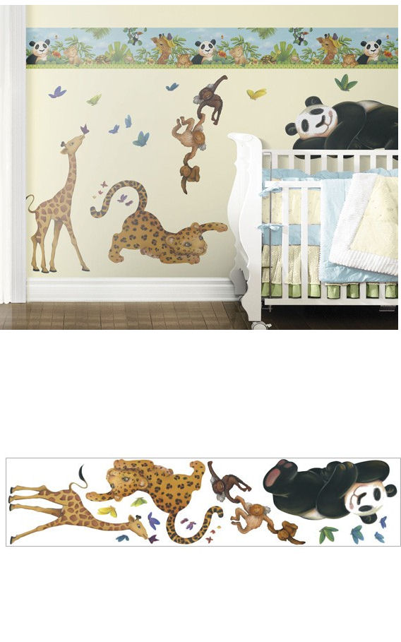 Jungle Freestyle Peel and Stick Stickers - Wall Sticker Outlet