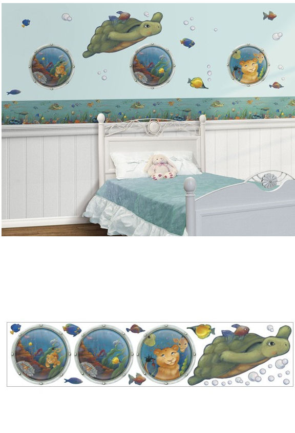 Undersea Freestyle Peel and Stick Appliques - Wall Sticker Outlet