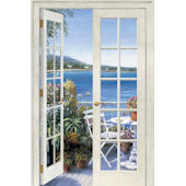 French Doors Seaside Peel and Stick Wall Mural