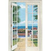 French Doors Resort  Peel and Stick Wall Mural