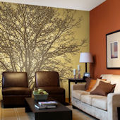 Tree Hugger Tella Mural Golden Brown