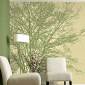 Tree Hugger Tella Mural Green