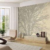 Tree Hugger Tella Mural Neutral