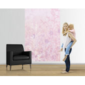Pink Wildflower Easy Up Mural