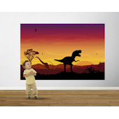 Age of Dinosaurs Red Violet  Easy Up Mural