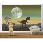 Age of Dinosaurs Sage Pre Pasted Mural