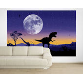 Age of Dinosaurs Violet  Pre Pasted Mural