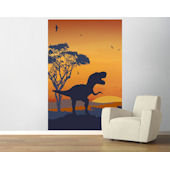 Roar Of The T Rex Blue and Orange  Easy Up Mural