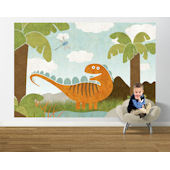 Dino Might Easy Up Mural