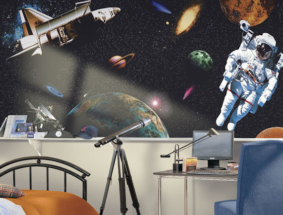 Space Wallpaper Decorating