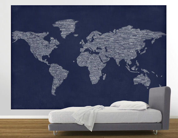 Navy one world pre pasted mural navy one world pre pasted mural wall sticker outlet gumiabroncs Gallery